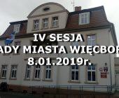 IV SESJA RADY MIEJSKIEJ W WIĘCBORKU 8.01.2019r.