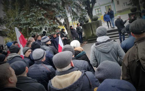 Protest rolników w Sępólnie (video)