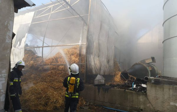 Pożar w Wielowiczku (video)