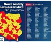 Ufff… Sąsiedzi w czerwonej strefie, powiat sępoleński nadal w żółtej (jak cały kraj).