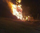 Pożar na pielgrzymce (video)
