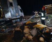 Pożar ciężarówki w Wituni.